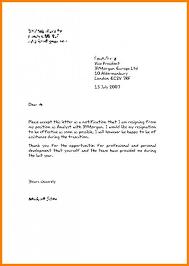 Resign Letter In English Under Fontanacountryinn Com
