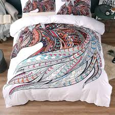 horse themed sheet sets bedding set print tribal horses duvet cover twin full queen king joules horse duvet cover designs 54501 free to use