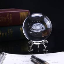 3d laser end crystal galactic miniature sculpture ball decoration astronomy sphere gl ornament gifts ball