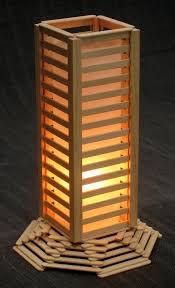 homemade lighting fixtures. night lamp made of popsicle sticks homemade lighting fixtures o