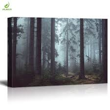 jhljiajun tranquil forest landscape canvas paintings horizontal rectangle modern picture wall art for living bedroom decor on tranquil bedroom wall art with jhljiajun tranquil forest landscape canvas paintings horizontal