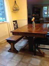 Ash Trestle Country Life Furniture Trestle Farmhouse Dining Table Wooden Whale Workshop Custom Woodwork