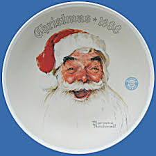 Santa Claus: Norman Rockwell Christmas Plate, Knowles (Image1)