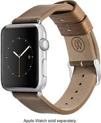 monowear watch band for apple watch 42mm brown angle zoom