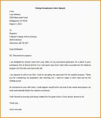 college acceptance letters examples college acceptance letter template free word format