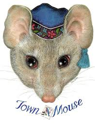 Image result for JAN BRETT TOWN MOUSE PUPPETS