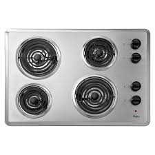 electric range top. Coil Electric Cooktop In Chrome With 4 Elements Range Top N