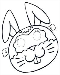free coloring pages of animals printable masks superhero cute rabbit mask template bunny