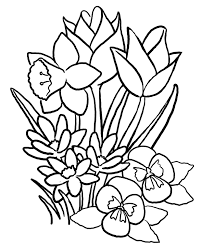 Small Picture Spring Flowers Coloring Pages Printable Archives In Spring Flowers
