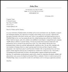 Professional English Teacher Cover Letter Sample Writing Guide