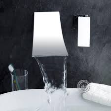 2018 B&R Luxury Wall Mounted Waterfall Sink Faucet Bathroom ...
