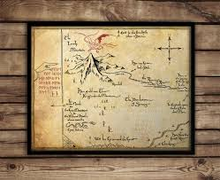 vanity tray hobbit the hobbitthorins map map of erebor thrars map fan art lord of the rin