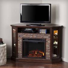 southern enterprises redden corner electric fireplace tv stand