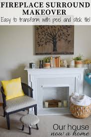 this easy l and stick tile fireplace surround makeover was such a fun and simple furniture redo i am always looking furniture in thrift and