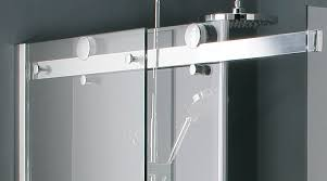 double roller frameless sliding shower door sliding rail double frameless shower door