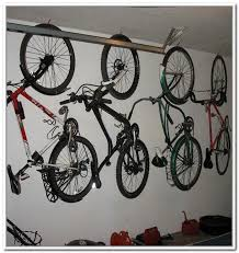 Remarkable Design Of The Garage Bike Storage With White Wall Added With  White Ceiling And Hanger