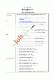 High School Resumes With No Job Experience Student Resume Samples