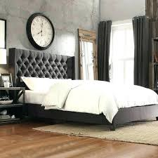 Upholstered Headboard With Buttons A High End Look Wooden Bed Fabric