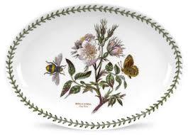"""<b>Блюдо овальное</b> Portmeirion """"Ботанический сад.Шиповник"""" <b>28см</b> ..."""