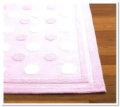 pink polka dot rug and white area plush pillowfort