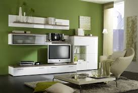 living room majestic green living room with white wall units also tv set and low