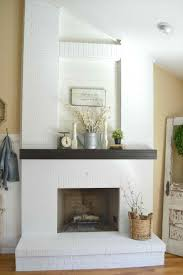 how painted brick fireplace with built ins to clean painted brick fireplace u paint inspirationpaint best