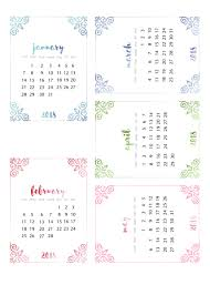 some free 2018 calendars from stickyinkymess