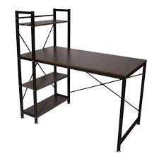 functional home bookcase shelf stainless steel computer desk pc table 4 tiers bookcase shelves in computer desks from furniture on aliexpress com alibaba