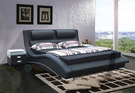 Contemporary Bed Design for Bedroom Furniture, Napoli Black Collection by  Matisse