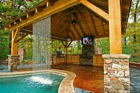 Outdoor Kitchen Designs With Pool Cool Decorating Design