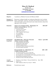 Medical Assistant Resume Objective Statement Free Download Medical