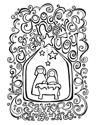 Free Nativity Coloring Page Coloring Activity Placemat Fab N Free