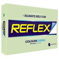 Optix Paper Colour Chart A4 Copy Paper Reflex Tints Green