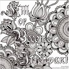 Inspirational Quotes Coloring Pages For Adults Free Printable Floral