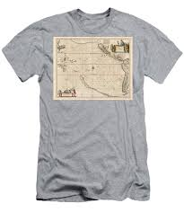 Antique Maps Old Cartographic Maps Antique Map Of The Strait Of Magellan South America 1650 Mens T Shirt Athletic Fit