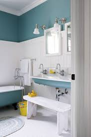 Small Blue Bathrooms Light Blue Bathroom Bathroom Storage Furniture With White Wood
