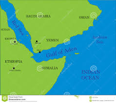 gulf of aden map stock vector image of arabia africa
