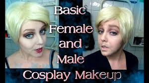 basic female and male cosplay makeup tutorial