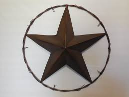 24 barbed wire barn metal star western home country decor art