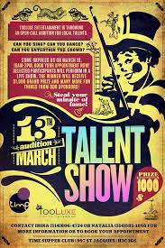 Talent Show Poster Designs Talent Show Poster Under Fontanacountryinn Com