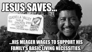 Jesus saves... ...His meager wages to support his family's basic ... via Relatably.com
