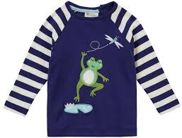 Long Frog Design Raglan Top Frog
