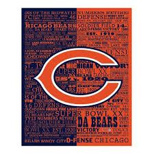chicago bears canvas wall art