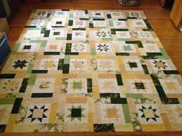 135 best Lucky Stars Quilt images on Pinterest | Crazy quilting ... & My newest queen size quilt using Atkins Lucky Stars Quilt Pattern. Used  yellow and green Adamdwight.com
