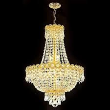worldwide lighting empire collection 8 light gold with clear crystal chandelier