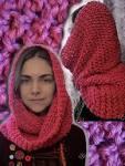 Как связать объёмный шарф крючком