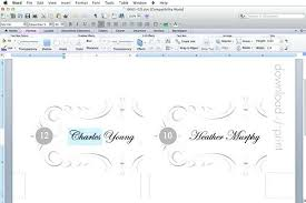 wedding table cards template microsoft word wedding place card template table cards seating
