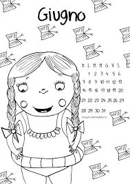 Calendario Da Colorare Il Mese Di Giugno Disegni Mammafelice