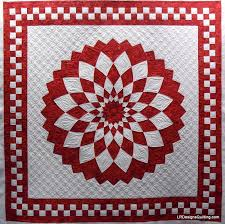 Red and White Giant Dahlia quilt by Janann, quilted by Linda at LR ... & Red and White Giant Dahlia quilt by Janann, quilted by Linda at LR Designs  Quilting Adamdwight.com