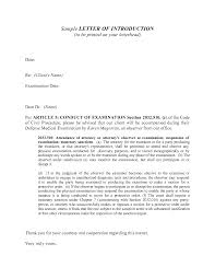 Job Letter Of Introduction Cover Letter Introduction Sample 298942